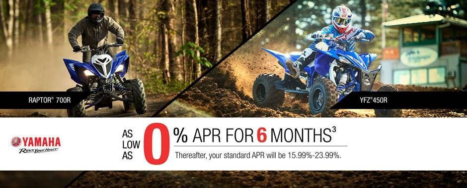 Yamahas - Sport ATV - Current Offer